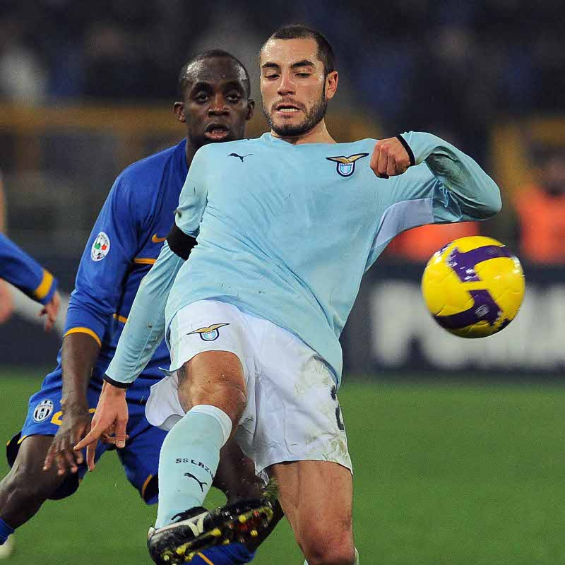 Mourad Meghni in action with Lazio Roma